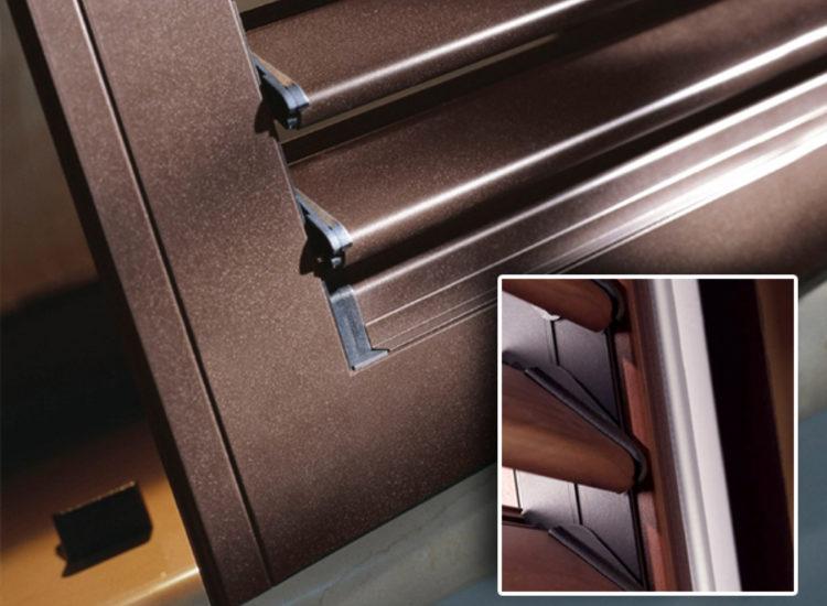 Scuri in alluminio con lamelle orientabili - quattro M